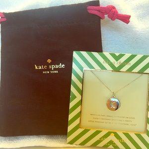 "Kate Spade - ""K"" silver necklace"